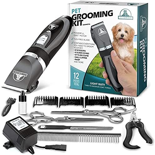 2021 Pet Union Professional online Dog Grooming Kit - Rechargeable, Cordless Pet Grooming Clippers & Complete Set of Dog Grooming Tools. Low Noise & Suitable for online sale Dogs, Cats and Other Pets outlet sale