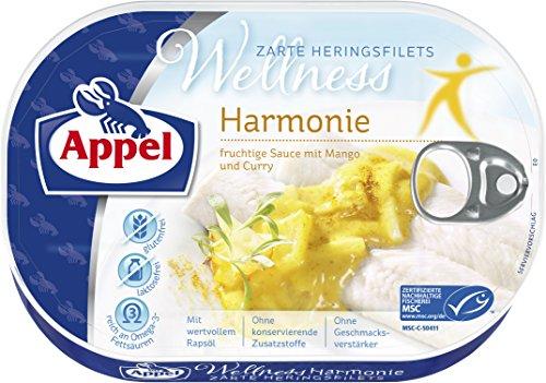 Appel Heringsfilets Wellness Harmonie, 10er Pack Konserven, Fisch in fruchtiger-Sauce