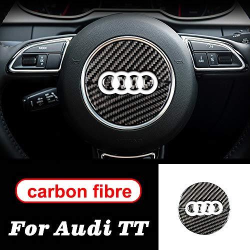 FSXTLLL Kohlefaser Mittelkonsole Air Gear Panel Outlet Lenkrad Auto Innen Zubehör, für Audi TT Auto Aufkleber 8n 8J MK123 TT RS
