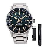 [オリエント時計] 腕時計 オリエントスター スポーツ ダイバー Diver 200m防水本格ダイバー(ISO準拠) シリコンバンド付 パワーリザーブ50時間搭載 RK-AU0307E メンズ シルバー