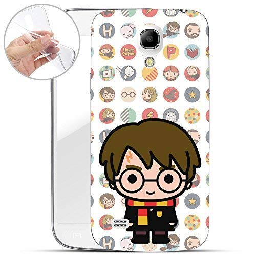 Harry Potter 'Chibi Serie' Silicone Samsung Galaxy S4 / S4 Mini - Harry Potter Chibi bianco, Samsung Galaxy S4