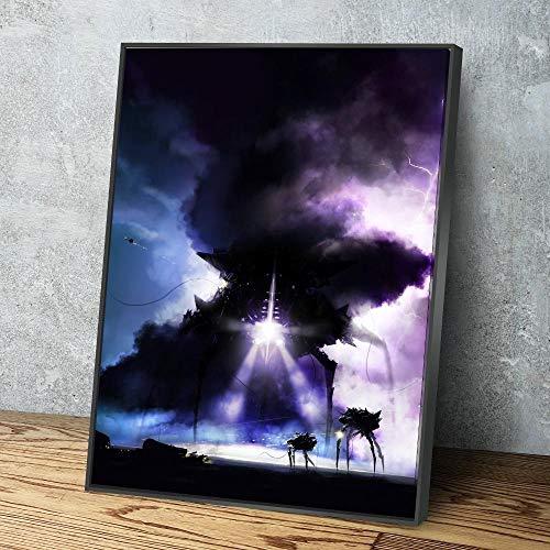 wZUN Lienzo Arte de Pared decoración del hogar Falta de mecánica alienígena impresión Cartel Pintura Moderno Tipo Inicial 60x85cm Sin Marco