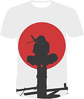 KIACIYA 3D Stampa Naruto T Shirt per Uomo Donna,Unisex Naruto Itachi Kakashi Elegante Casuale Maglietta Maniche Corte Maglia Shirt Tee Camicia Camicetta Tops per Ragazzo Uomo