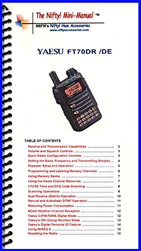 Yaesu FT-70DR Mini-Manual by Nifty Accessories