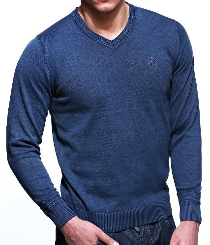 Strength & Honour - Pull - Uni - Manches Longues - Homme - Bleu - Bleu - Petit