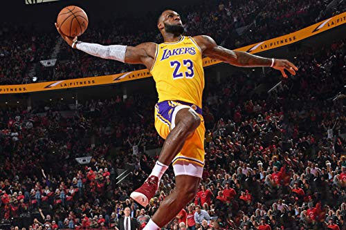 WonderClub Lebron James Los Angeles Lakers Poster Photo Celebrity Basketball NBA Champion Limited Print Size 8.5' X 11'#2