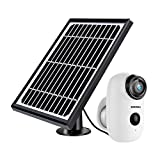 Security Camera Outdoor Wireless WiFi, ZUMIMALL Solar Powered...