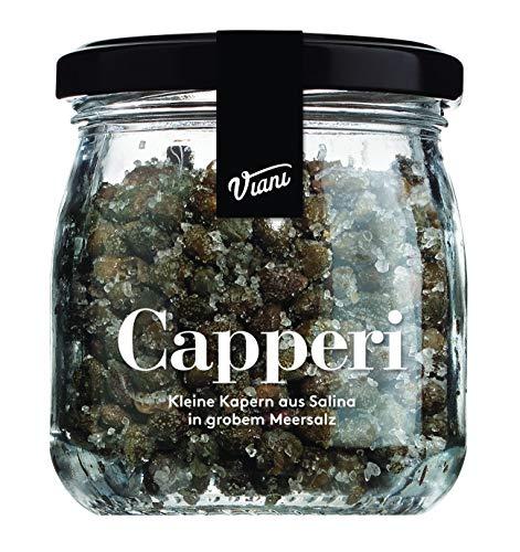 Viani CAPPERI - Kapern aus Salina in Meersalz - Kapern in grobem Meersalz - 120g
