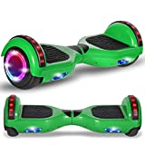 Beston Sports Newest Generation Electric Hoverboard Dual Motors Two Wheels Hoover Board Smart self Balancing Scooter with Built in Speaker LED Lights for Adults Kids Gift (Classic Green)