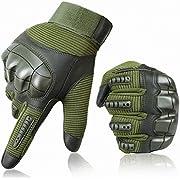 OUSPT Taktische Handschuhe Motorrad Handschuhe Herren Vollfinger Handschuhe Touch Handschuhe für Airsoft Militär Paintball Motorrad Fahrrad Skifahre und andere Outdoor Aktivitäten Mit Klettverschluss