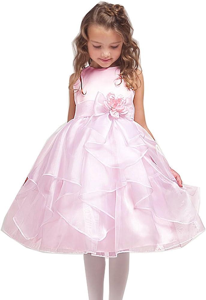 Kid Collection Girls' Satin Sleeveless Flower Girl Dress