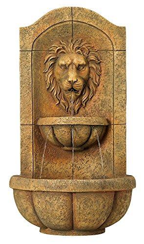 Furniture Creations Lion Head Outdoor Wall Mount Garden Water Fountain