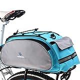 Alforjas Bicicleta Asiento de montaña bicicleta de carretera bicicleta de ciclo del estante posterior del tronco del paquete del bolso Pannier portador del bolso de hombro 13L Maleta Para Bicicleta