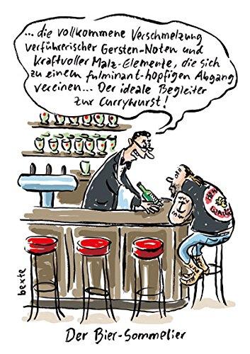 Postkarte A6 • 72324 ''Der Bier-Sommelier'' von Inkognito • Künstler: Bettina Bexte • Satire • Cartoons