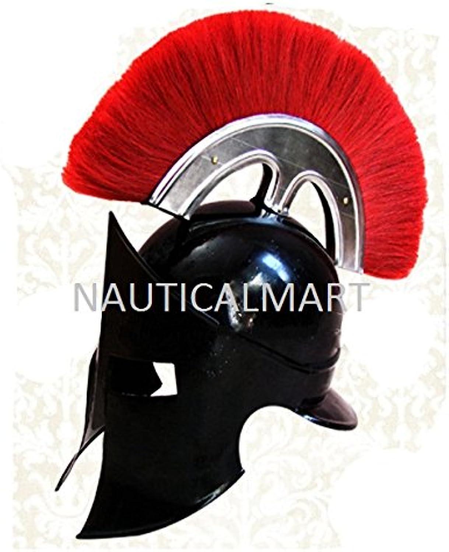 NAUTICALMART 300 Movie King Spartan Armor Helmet with RED Plume