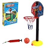 regalo de cumplea/ños Ni/ños ajustable Outdoortips Junior independiente cancha de baloncesto juego con bomba y baloncesto
