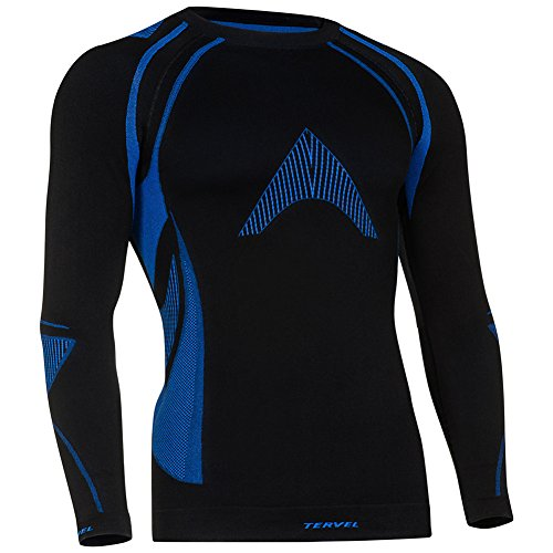 Tervel Optiline MOD-02 Chemise Manches Longues Noir/Bleu Taille XL