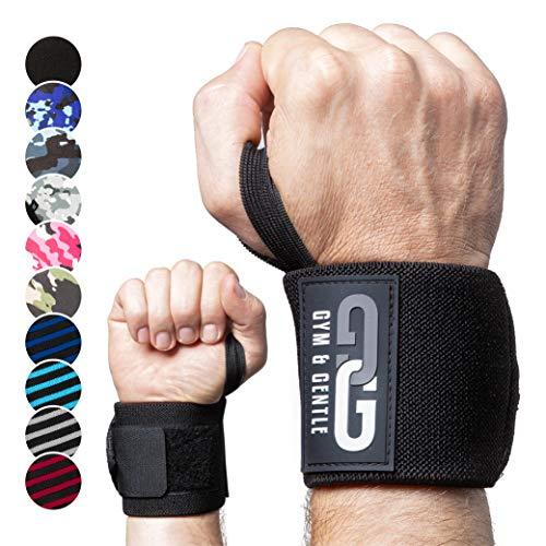 Gym & Gentle Fitness Handschuhe mit Handgelenkstütze I Gym Gloves für Damen und Herren mit Netzbeutel I Trainingshandschuhe, Sporthandschuhe