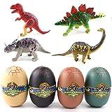 Haruhana ジュラ紀の卵 ダイナソー立体パズル 恐竜卵 恐竜おもちゃ 模型 組み立て式 おもちゃ 玩具 フィギュア 全24種類 (卵四個セット)
