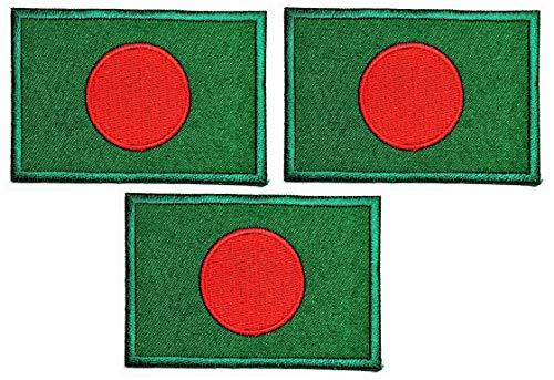 Umama Patch Set von 3 Militärische taktische Flagge Bangladesch Aufkleber Patches Bangladesch Flagge DIY Applique Bestickt Nähen Eisen auf Patch Emblem Kleidung oder Belohnung Geschenk