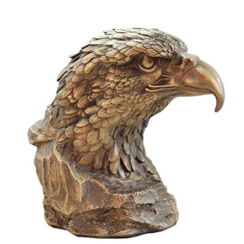 DYB Estatua de Cabeza de águila, Escultura de Busto de halcón Defensor águila pájaro Cabeza de Animal Escultura decoración Resina artesanía colección Regalos