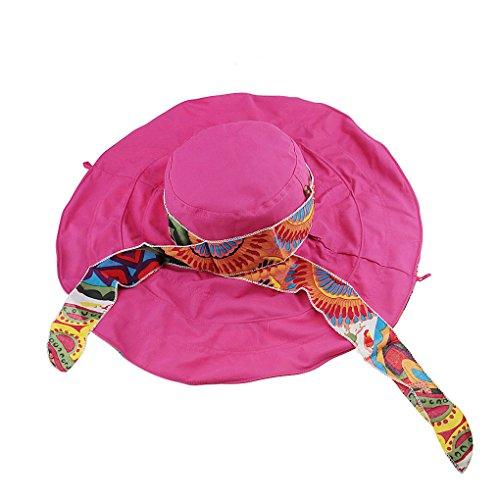 YSXY Sonnenhut Weibliche Faltbar Sonnencreme weiblicher Frühling und Sommer-Bogen groß entlang der Strand-Kappe Sonnenschutz Sommer Strand Schirmmütze