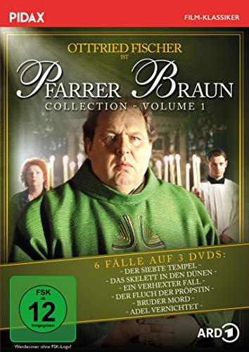 Pfarrer Braun Collection, Vol. 1 / Die ersten sechs Folgen der Krimireihe mit Ottfried Fischer (Pidax Film-Klassiker) [3 DVDs]