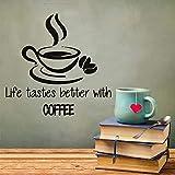 Decoración para el hogar Cartas La vida sabe mejor con caf�