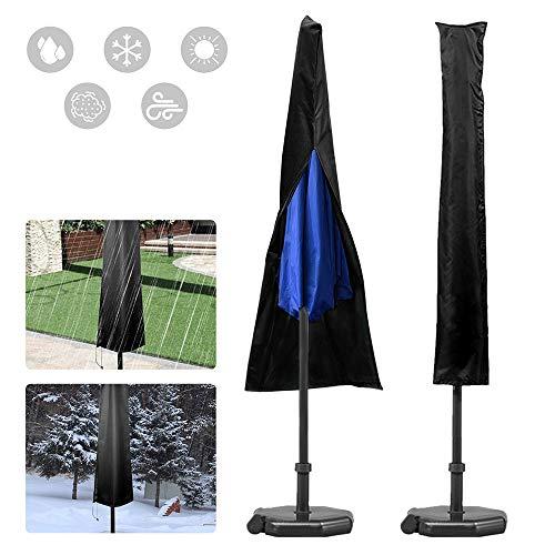 You's Auto Housse de Parasol imperméable 420D Oxford Ultra résistante pour Jardin extérieur Housse rotative avec Sac de Rangement Noir 183 x 25 x 35 cm