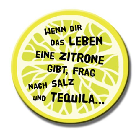 Polarkind Button Anstecker Pin Tequila Salz Spruch 38mm