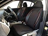 seatcovers by k-maniac V1607569 Fundas de Asiento para Opel Astra H Caravan, universales, Color Negro y Rojo