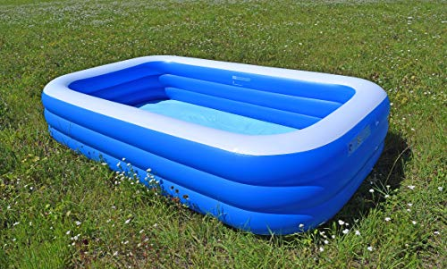 SportFit 600-28 XXL Familienpool Pool Riesenpool Kinder Aufstellpool - Planschbecken - Family Pool - 305x180x56 cm