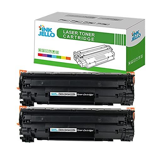 InkJello Compatibile Toner Cartuccia Sostituzione Per HP LaserJet P1005 P1006 P1007 P1008 P1009 CB435A/CB436A (Nero 2-Pack)