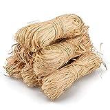 6 x 50 g de rafia natural, 300 g de rafia marrón para manualidades, ramos de floristería...