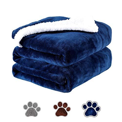 Wasserdicht Hundedecke Weiche Fleecedecke Decken für Hunde Katzen, 150x127cm Waschbare Hundematte Premium Flanell Haustier Warme Hundebett Matte Wendedecke Liegedecke Kuscheldecke (Braun)