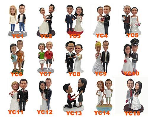 "7"" Custom Bobblehead Couple Wedding Dolls, Best Custom Topper Cake bobblehead ,Custom Bobbleheads ,Make A Custom Grooms Bobblehead,Best Custom Bobblehead Based On Your Photos"