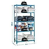 SimonRack SI454 Kit Estantería con 5 Estantes, Azul y madera