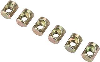 スロット付き軽量埋め込みナットキャビネット固定ナット緩み防止家具バレルナットM6家具キャビネット用バレルボルト家具ハードウェア交換キット