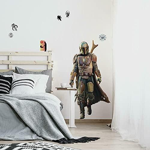 RoomMates Star Wars The Mandalorian Wandaufkleber, zum Abziehen und Aufkleben