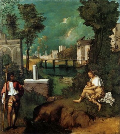 "The Tempest 1510 by Giorgione 18"" X 20"" Inches Image Size Poster Reproduction ON PAPER. More"