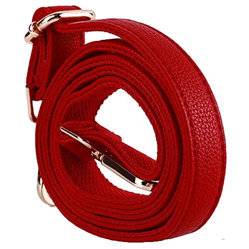 ZSDFW Correas de hombro con ganchos giratorios de metal Lychee patrón ajustable mochila piezas para bolso de hombro Crossbody rojo