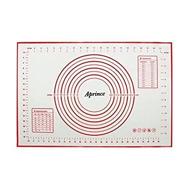 Aprince Silicone Non-Stick Baking Mat Large with Measurements, Non-Slip for Rolling Dough, Cookie Sheet Kneading Mat (Style 3 - 15.75''x23.62'')