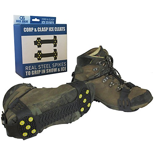 Quik Solve Snow Ice Traction Shoe Boot Cleats  Walking Grip Spikes Medium