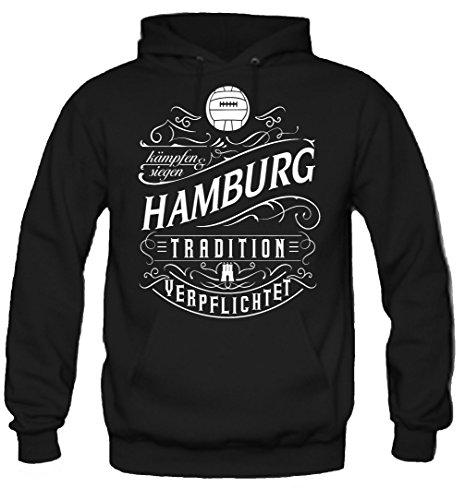 uglyshirt87 Mein Leben Hamburg Kapuzenpullover | Freizeit | Hobby | Sport | Sprüche | Fussball | Stadt | Männer | Herren | Fan | M1 Front (XXL)