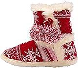 Dunlop Botas de tobillo con forro de piel sintética para mujer, Red, 36/37 EU