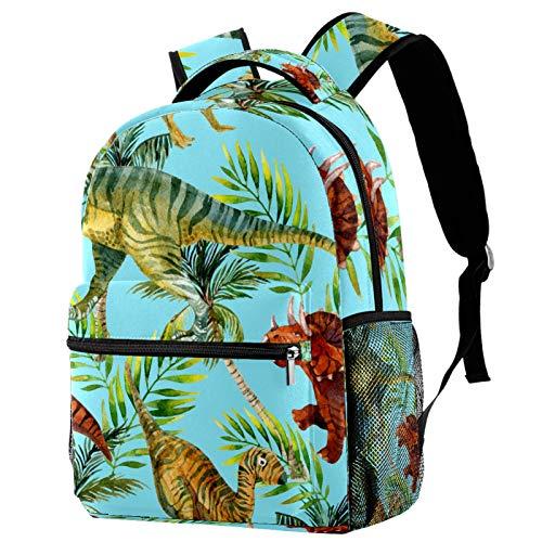 Zaino Jurassic Dinosaur Palm Tree Leave School Bag Zaino da viaggio Casual Daypack per donne adolescenti ragazze ragazzi