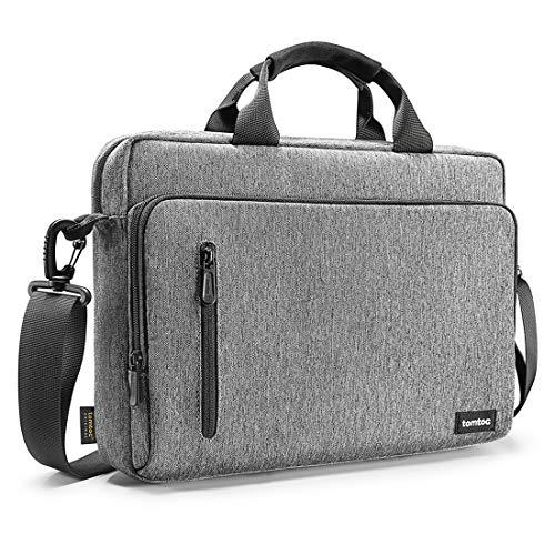 tomtoc 15.6 Inch Laptop Shoulder Bag for 16-inch MacBook Pro, Multi-Functional Laptop Messenger Bag Briefcase for 15-inch MacBook Pro, Dell XPS 15, Surface Book 3/2, Ultrabooks Chromebooks Notebooks