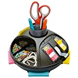 Post-it Rotary Organizer, Black, Keep your desk or common area organized with this convenient desk organizer (C91)