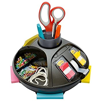 Post-it Rotary Organizer Black Keep your desk or common area organized with this convenient desk organizer  C91