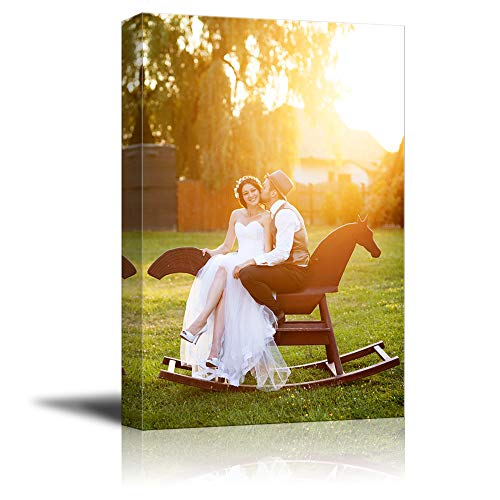 NWT Custom Canvas Prints with Your Photos for Wedding, Personalized Canvas Pictures for Wall to Print Framed 10x8 inches